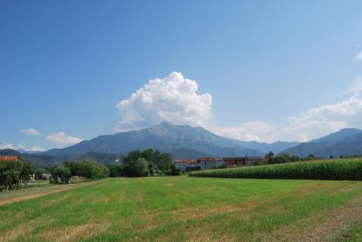 vista del monte Besimauda da San Mauro