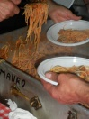 Impiattamento degli spaghetti