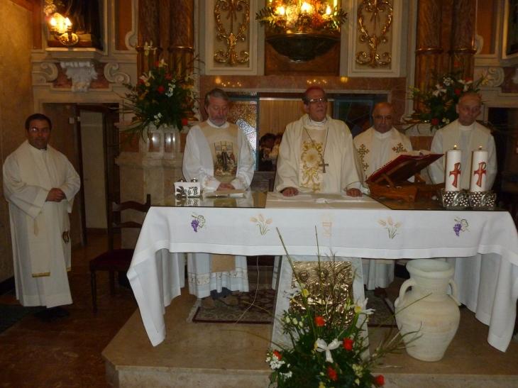 da sinistra: don Mauro, don Giò, don Bruno e don Benvenuto