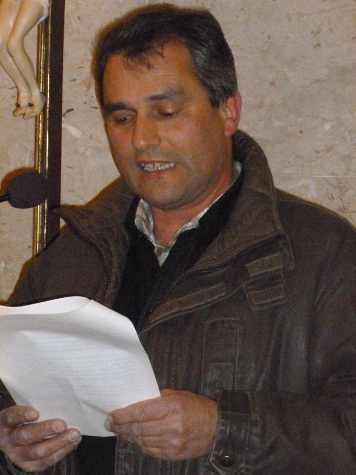 Gianfranco Dutto presenta al vescovo la frazione