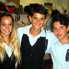 Francesca, Andrea e Manuel