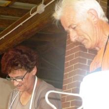 Marziana e Gianfranco al lavoro