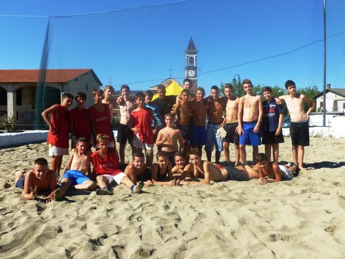 Torneo di beach soccer scuola medie 2013