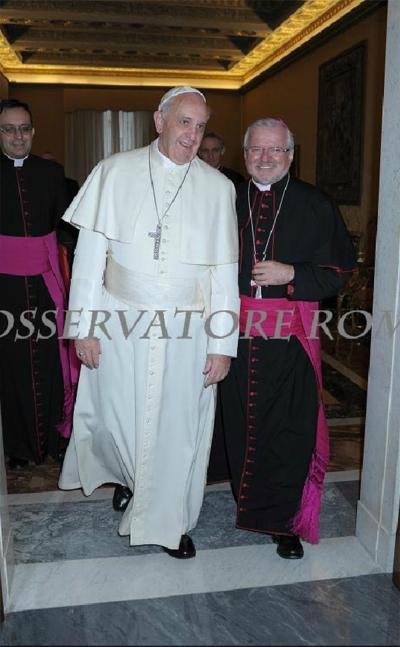 Mons. Giordano in visita in Vaticano