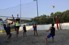Momenti della finale di beach volley